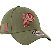 New Era Men's Salute to Service Washington Redskins 39Thirty Olive Stretch Fit Hat