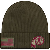 New Era Men's Salute to Service Washington Redskins Olive Cuffed Knit