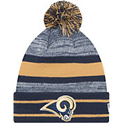 New Era Men's Los Angeles Rams Navy Cuffed Pom Knit