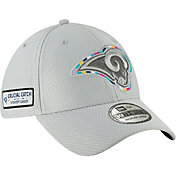 New Era Men's Crucial Catch Los Angeles Rams Sideline 39Thirty White Stretch Fit Hat