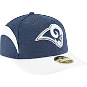 New Era Men's Los Angeles Rams Sideline Home 59Fifty Navy Fitted Hat