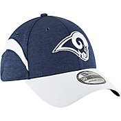 New Era Men's Los Angeles Rams Sideline Home 39Thirty Navy Stretch Fit Hat