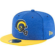 New Era Men's Los Angeles Rams Sideline Home 59Fifty Royal Throwback Fitted Hat