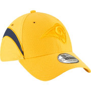 New Era Men's Los Angeles Rams Sideline Color Rush 39Thirty Gold Stretch Fit Hat