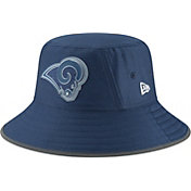 New Era Men's Los Angeles Rams Sideline Training Camp Navy Bucket Hat
