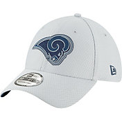 New Era Men's Los Angeles Rams Sideline Training Camp 39Thirty Grey Stretch Fit Hat
