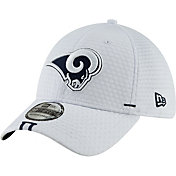 New Era Men's Los Angeles Rams Sideline Training Camp 39Thirty Stretch Fit White Hat