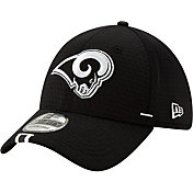 New Era Men's Los Angeles Rams Sideline Training Camp 39Thirty Stretch Fit Black Hat