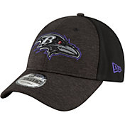New Era Men's Baltimore Ravens Shaded Front 9Forty Black Adjustable Hat
