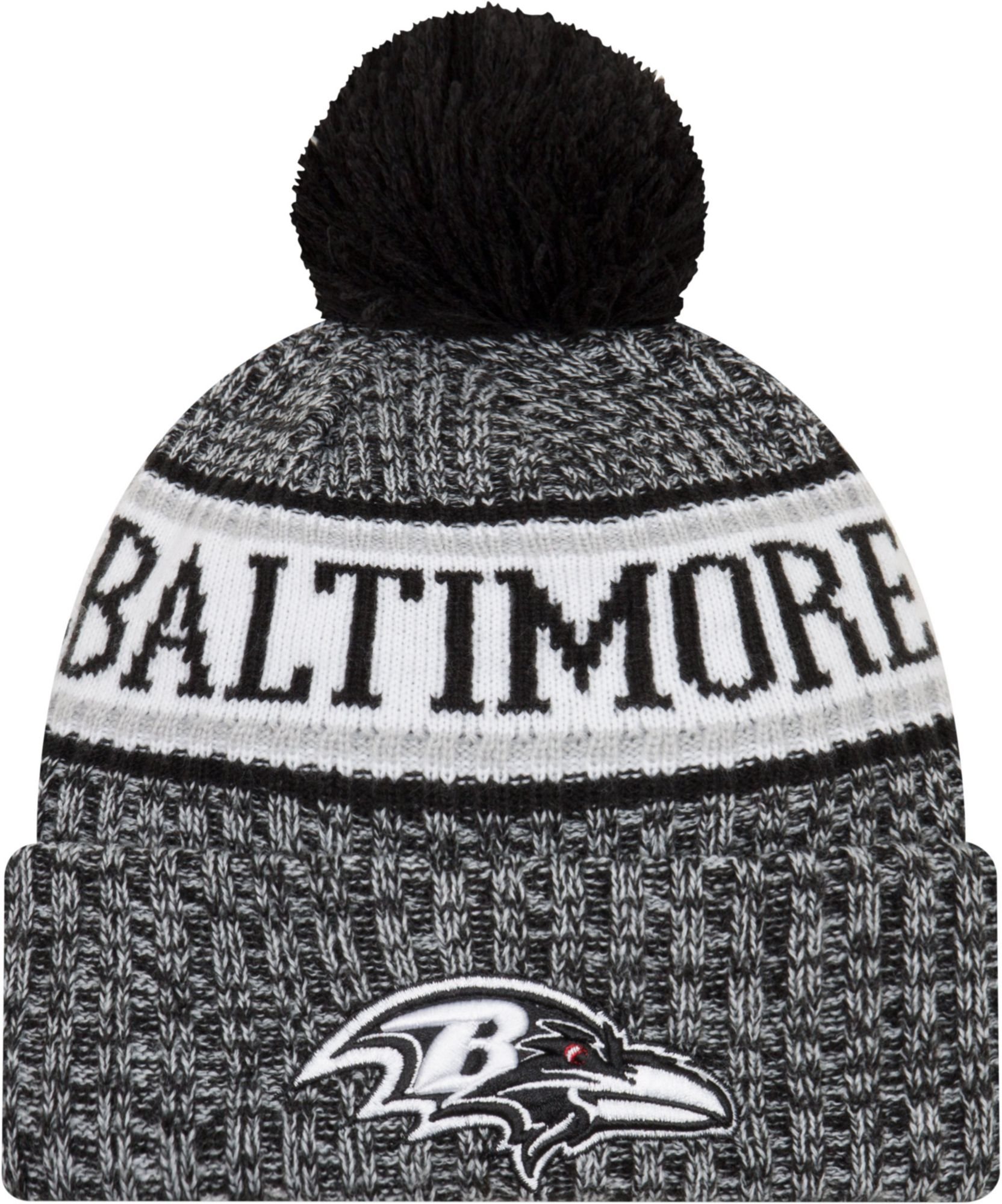 4e9757ff624 ... 2018 nfl sideline cold weather official td knit hat low price new era  mens baltimore ravens sideline cold weather reverse black sport knit 2e53c  8d0e6 ...