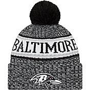 New Era Men's Baltimore Ravens Sideline Cold Weather Reverse Black Sport Knit