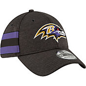 New Era Men's Baltimore Ravens Sideline Home 39Thirty Black Stretch Fit Hat