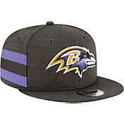 New Era Men's Baltimore Ravens Sideline Home 9Fifty Black Adjustable Hat