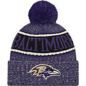 New Era Men's Baltimore Ravens Sideline Cold Weather Reverse Purple Sport Knit