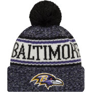 New Era Men's Baltimore Ravens Sideline Cold Weather Black Sport Knit