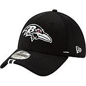 New Era Men's Baltimore Ravens Sideline Training Camp 39Thirty Stretch Fit Black Hat