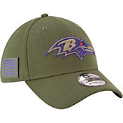 New Era Men's Salute to Service Baltimore Ravens 39Thirty Olive Stretch Fit Hat