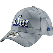 New Era Men's Super Bowl LIII 39Thirty Geo Silver Stretch Fit Hat