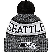 New Era Men's Seattle Seahawks Sideline Cold Weather Reverse Black Sport Knit