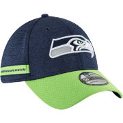 New Era Men's Seattle Seahawks Sideline Home 39Thirty Navy Stretch Fit Hat