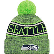 New Era Men's Seattle Seahawks Sideline Cold Weather Reverse Green Sport Knit