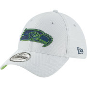 New Era Men's Seattle Seahawks Sideline Training Camp 39Thirty Grey Stretch Fit Hat