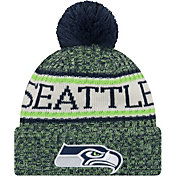 New Era Men's Seattle Seahawks Sideline Cold Weather Navy Sport Knit