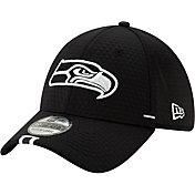 New Era Men's Seattle Seahawks Sideline Training Camp 39Thirty Stretch Fit Black Hat