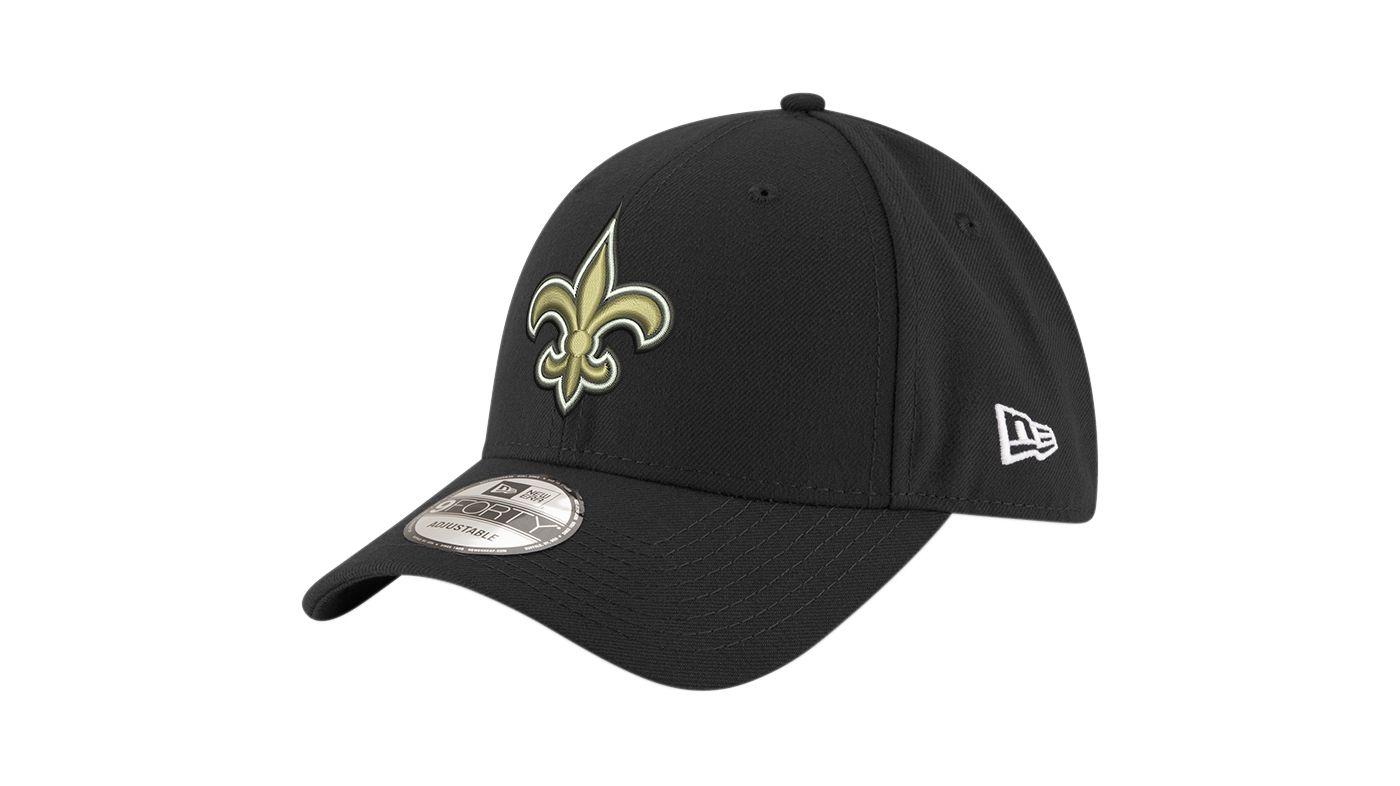New Era Men's New Orleans Saints 9Forty Black Adjustable Hat