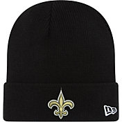 New Era Men's New Orleans Saints Black Cuffed Pom Knit