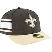 New Era Men's New Orleans Saints Sideline Home 59Fifty Black Fitted Hat