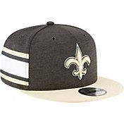 New Era Men's New Orleans Saints Sideline Home 9Fifty Black Adjustable Hat