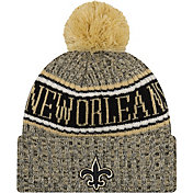 New Era Men's New Orleans Saints Sideline Cold Weather Reverse White Sport Knit