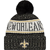 New Era Men's New Orleans Saints Sideline Cold Weather Black Sport Knit