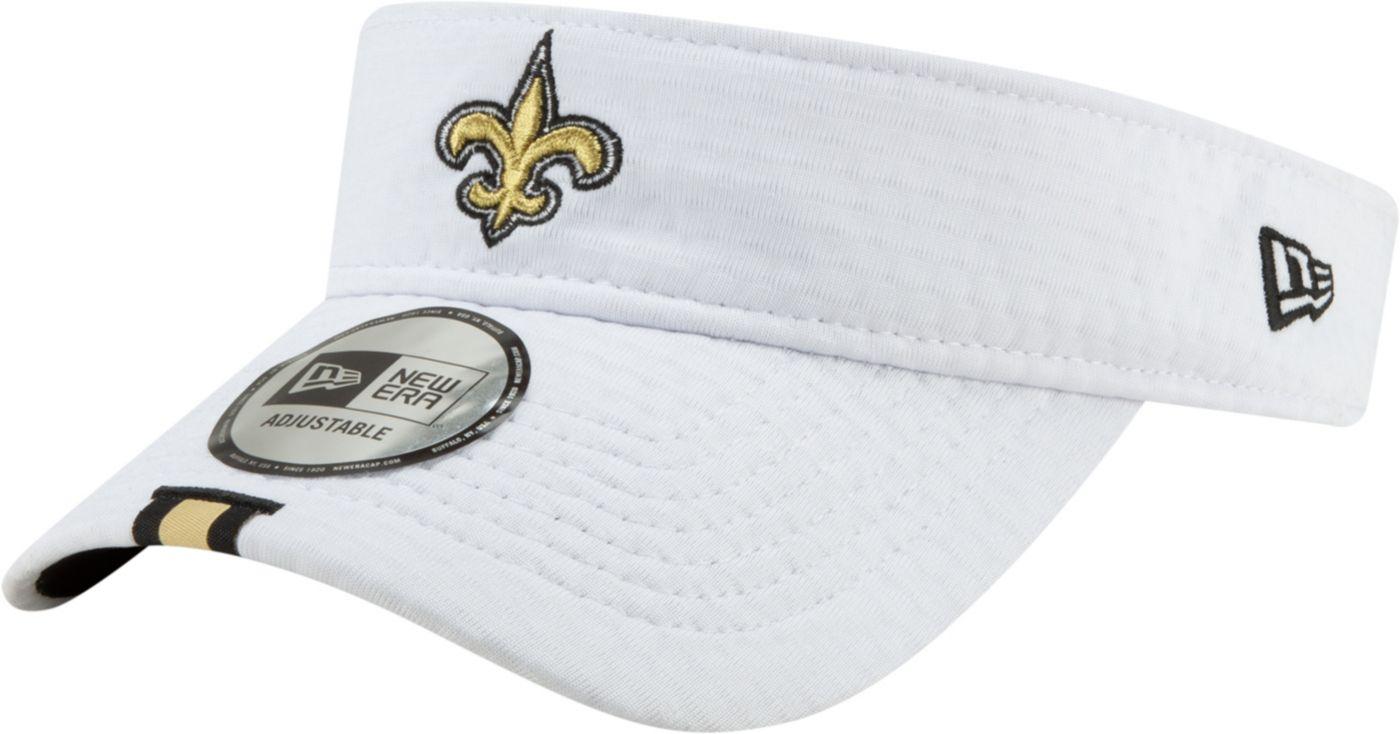 New Era Men's New Orleans Saints Sideline Training Camp Adjustable White Visor