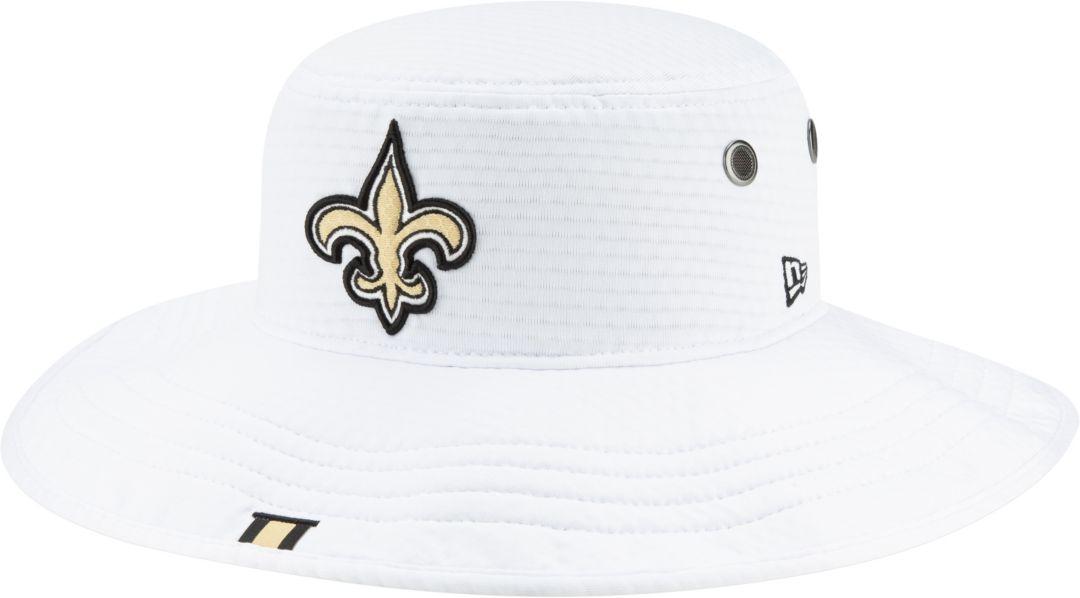 detailed look acf5c ca1d0 New Era Men s New Orleans Saints Sideline Training Camp Panama White Bucket  Hat 1