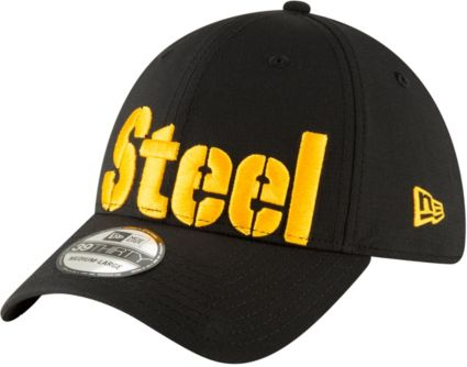 New Era Men s Pittsburgh Steelers  Designed by JuJu  39Thirty Black Stretch  Fit Hat. noImageFound a1be23661da6
