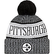 New Era Men's Pittsburgh Steelers Sideline Cold Weather Reverse Black Sport Knit