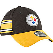 New Era Men's Pittsburgh Steelers Sideline Home 39Thirty Black Stretch Fit Hat