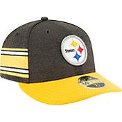New Era Men's Pittsburgh Steelers Sideline Home 59Fifty Black Fitted Hat