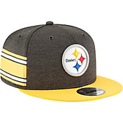 New Era Men's Pittsburgh Steelers Sideline Home 9Fifty Black Adjustable Hat