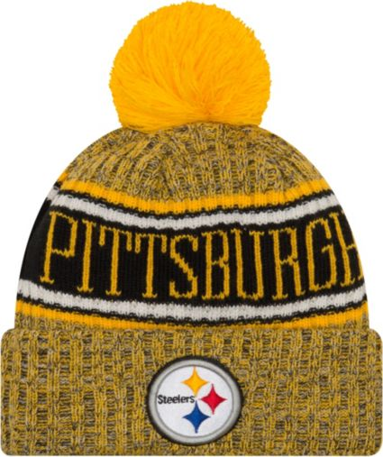 a132ffe0c7b New Era Men s Pittsburgh Steelers Sideline Cold Weather Reverse Yellow  Sport Knit. noImageFound