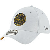 New Era Men's Pittsburgh Steelers Sideline Training Camp 39Thirty Grey Stretch Fit Hat