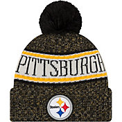 New Era Men's Pittsburgh Steelers Sideline Cold Weather Black Sport Knit