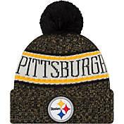 super popular c7337 84ac7 New Era Mens Pittsburgh Steelers Sideline Cold Weather Black Sport Knit