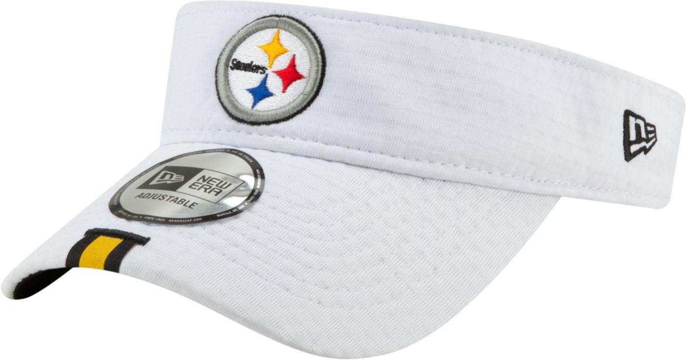 New Era Men's Pittsburgh Steelers Sideline Training Camp Adjustable White Visor