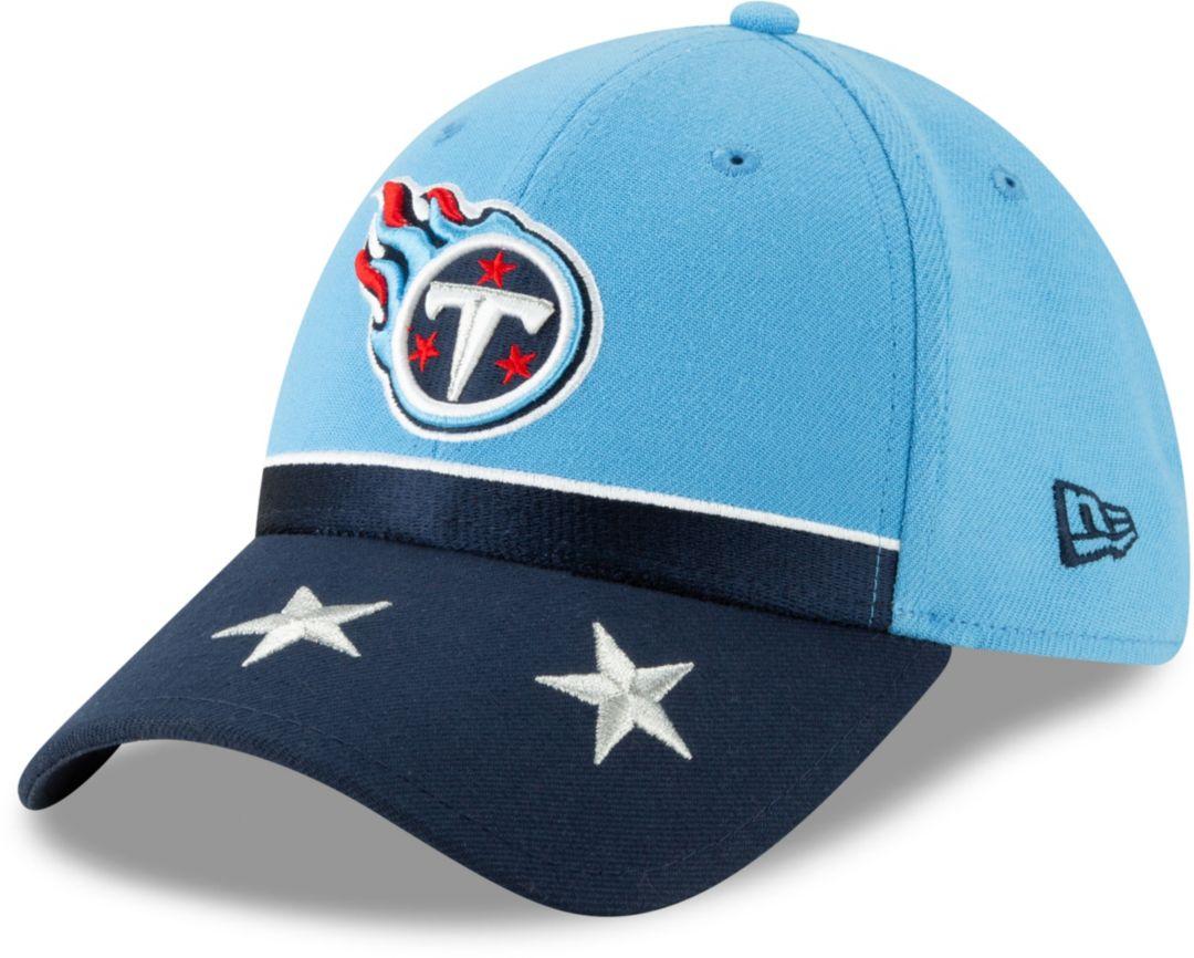 2b79f357 New Era Men's Tennessee Titans 2019 NFL Draft 39Thirty Stretch Fit Blue Hat