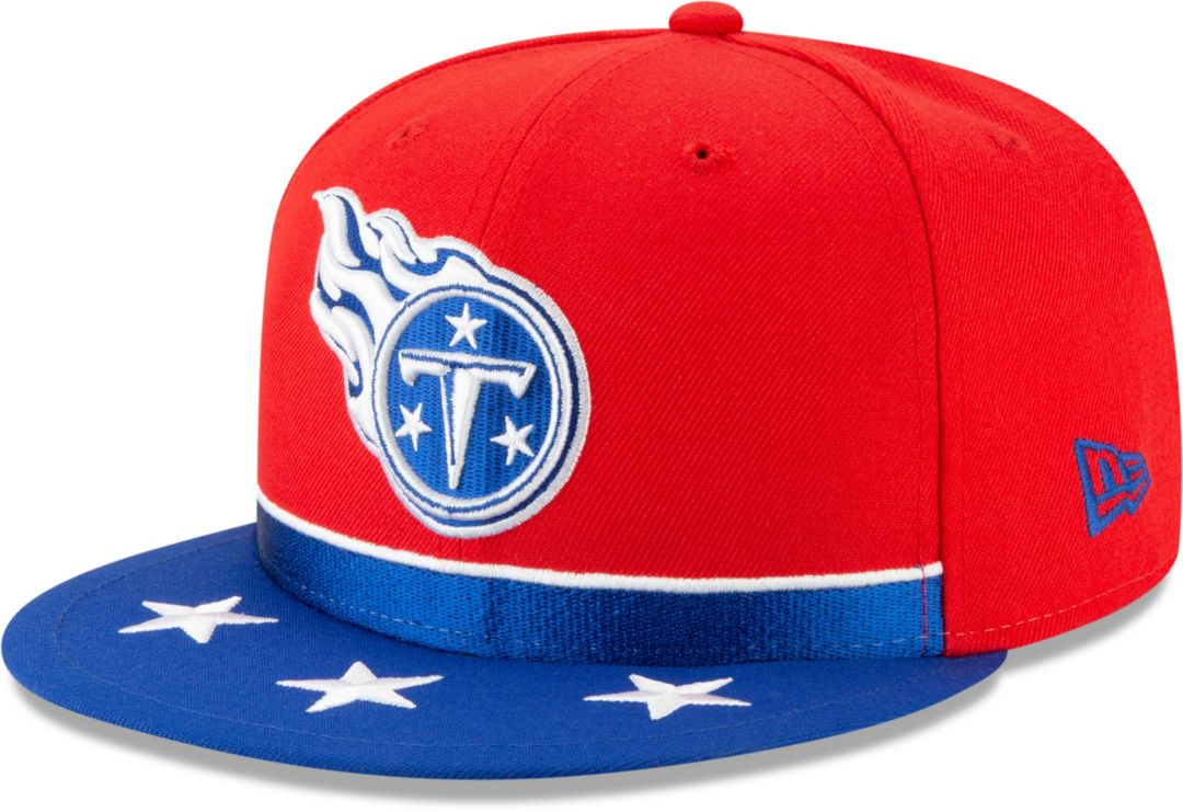 223acf85 New Era Men's Tennessee Titans 2019 NFL Draft 9Fifty Snapback Adjustable  Red Hat