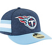 New Era Men's Tennessee Titans Sideline Home 59Fifty Navy Fitted Hat
