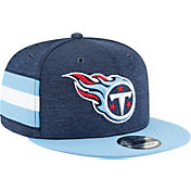 New Era Men's Tennessee Titans Sideline Home 9Fifty Navy Adjustable Hat